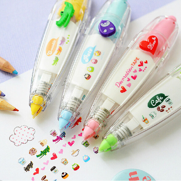best selling Sweet floral tape pen funny sticker kids stationery decor tapes label sticker paper correction tape