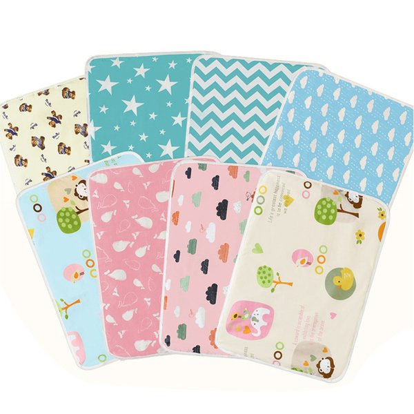 50*70cm Baby Changing Mat Waterproof Newborn Infant Boys Girls Urine Pad Cover for Stroller Bed Reusable Portable Sheet