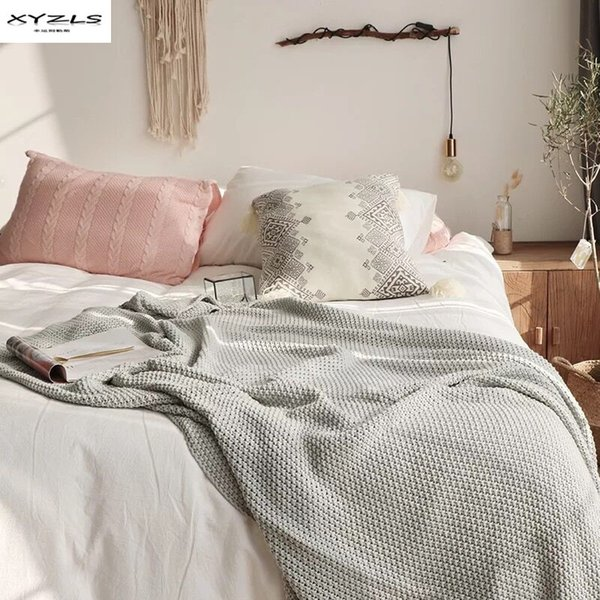 Brilliant Xyzls Nordic Style Throw Blanket 100 Cotton Knitted Blanket For Sofa Bed Spring Autumn Adults Gift 150X180Cm Quilted Throw Blankets Domain Blankets Caraccident5 Cool Chair Designs And Ideas Caraccident5Info