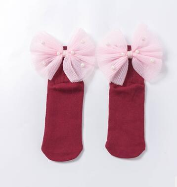 Wine red back bow
