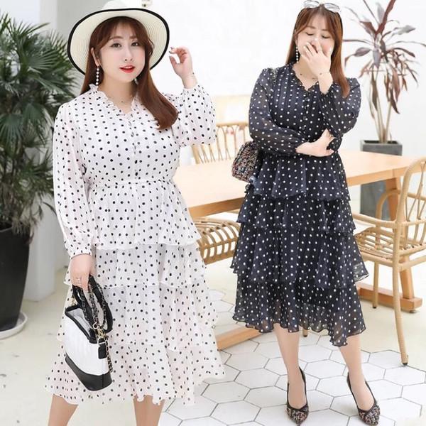 Ubetoku 2019New Arrival Women Spring Chiffon Dress Sweet Dot Print Ruffles  Tiered Dress Plus Size Women ClothingQun151 Floral Sundress Women Summer ...