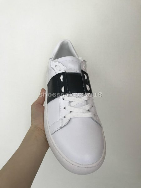 2019 All WHITE Lady Comfort Casual Dress Shoe Sport Sneaker Mens Casual Leather Shoes Luxury Designers Womens Garavanis Open Lowtop Sneakers