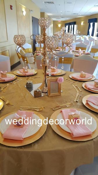 New style Hot selling fashionable glass crystal cylinder wedding tealight candle holder decor393