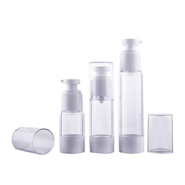 15 ml 30 ml 50 ml 80 ml 100 ml 120 ml Loción spray botella de perfume de la bomba de prensa removedor de maquillaje protector solar Champú desinfectante de la mano envase cosmético