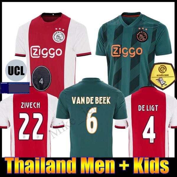 Van De Beek 6 Ajax Amsterdam Trikot Herren 2019-2020 Home UCL