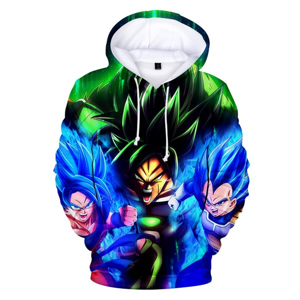 Japan Super Broly 3D hoodies sweatshirt men/women Autumn winter warm high quality Streetwear 3D pullover
