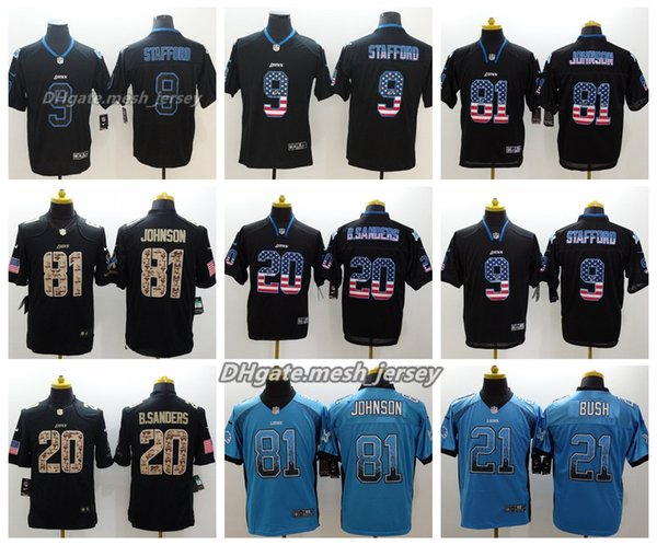 promo code affa6 5c17c 2019 Men Detroit Jersey Lions 21 Ameer Abdullah 9 Matthew Stafford 81  Johnson 20 Barry Sanders Color Rush Football Stitching Jerseys From Top_06,  ...