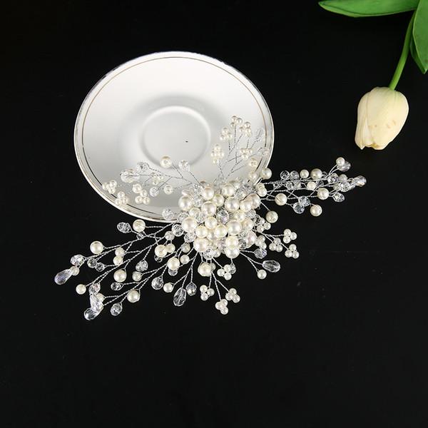 Accessori Abito da sposa vendite calde-Handmade di nuovo stile perla del copricapo della sposa coreana della sposa di stile dei capelli tornante Accessori