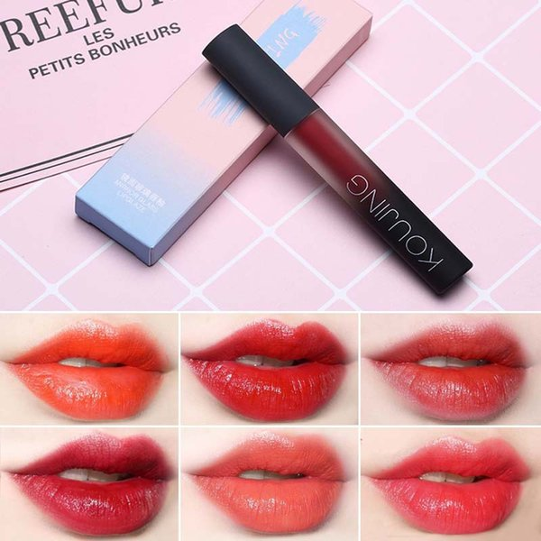 Cute Korean Style Red Liquid Matte Lipstick Lasting Moisturizr Lip Tint Glazed Lipgloss Tattoo Makeup Batom Lip gloss Cosmetics