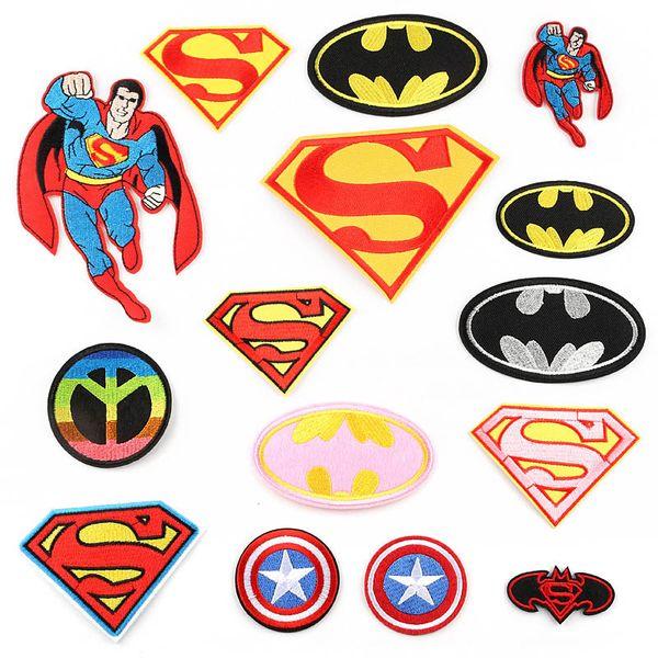 Acheter Dessin Animé Super Hero Patchs Superman Captain America Flash Coudre Fer Sur Applique Diy Badge Patch Pour Enfants Vêtements Veste Sac De