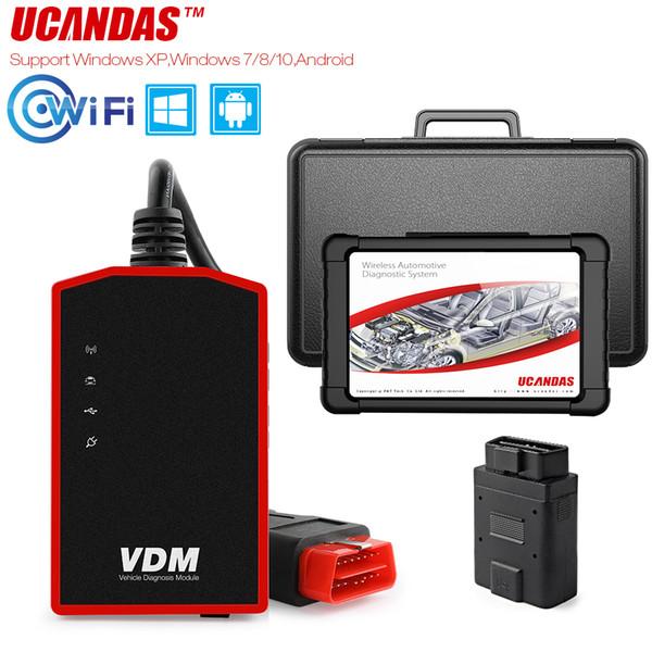 UCANDAS VDM OBD2 Wifi Scanner ODB2 Car Diagnostic Tool Multi Languages Support Windows Android Systems OBD 2 Automotive