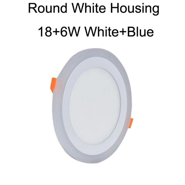 Round White Housing 18+6W White+Blue