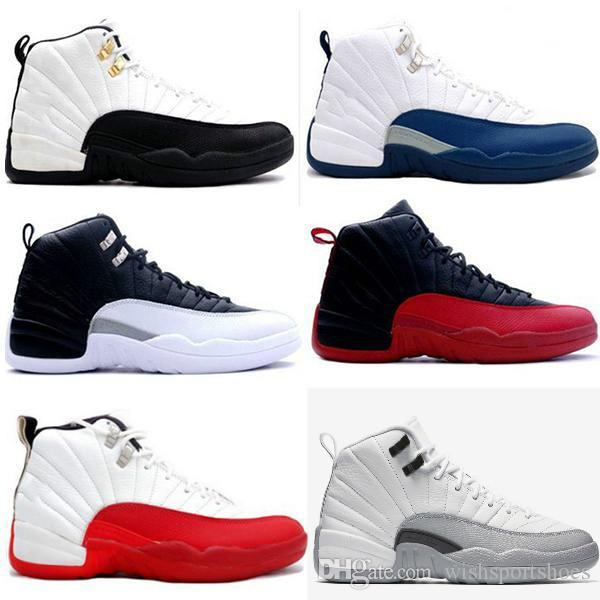 New 12 12s Bulls gym Red men women basketball Shoes UNC taxi Nubuck College Navy Flu Game french gamma blue trainer Sports sneakers