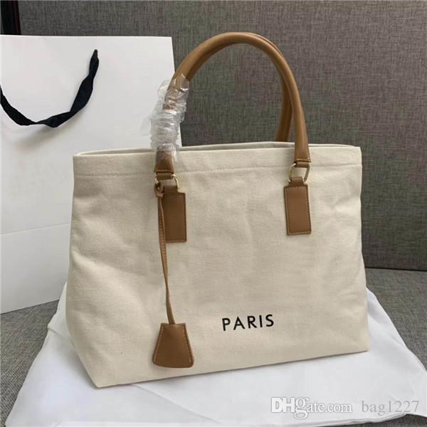 Global Free Shipping Classic Luxury Matching Fabric Leather Tote The highest quality handbag size 44 cm 32 cm 16 cm