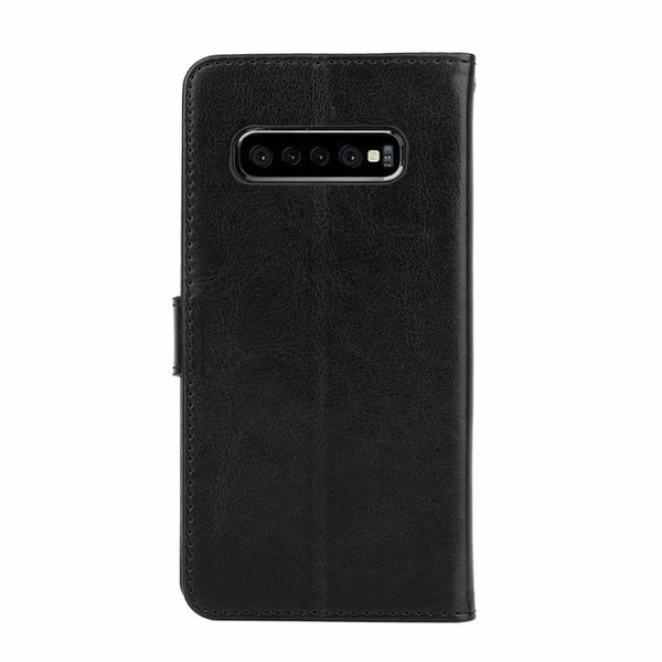 Crazy horse wallet leather PU phone cover Case For samsung S10 5G e s9 plus A10 A20 A30 A40 A50 M10 M20 M30