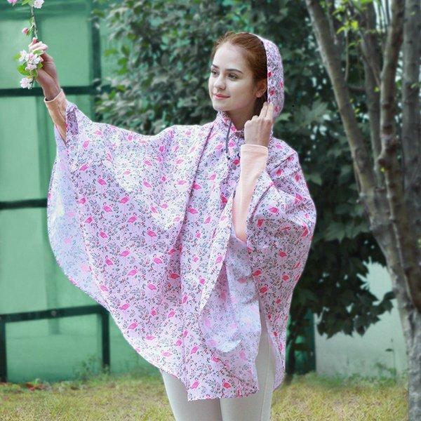 2019 Most popular gradient printed waterproof raincoat, hooded poncho and poncho for adults