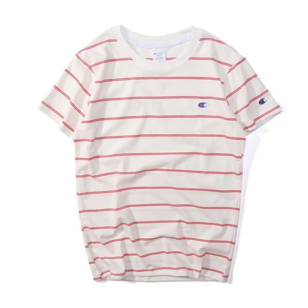 Mens Designer Brand T-Shirts Männer Sommer Oansatz Kurzarm Tops Männer Frauen Mode Gestreiften Druck Brief Stickerei T-shirts Paar Kleidung