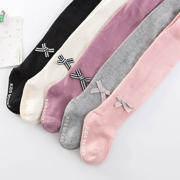 Knitted Cotton Baby Tights Infant Girl solid color Children Pantyhose baby fashion Stocking