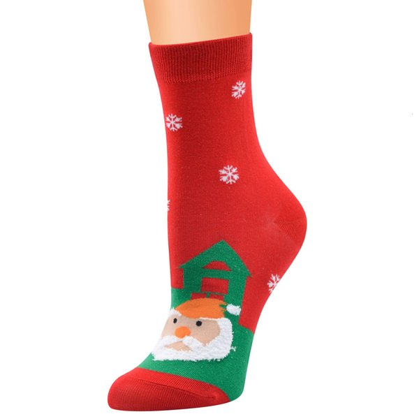 5 # Maison du Père Noël au fond rouge