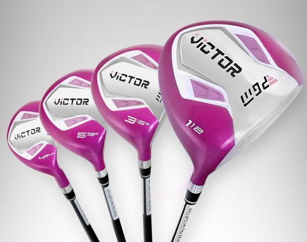 Высококачественные женские тренировочные клюшки для гольфа 4 шт. Виктор водители гольфа + Виктор гольф леса с графитовым валом бесплатная доставка