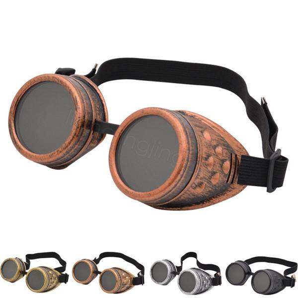 6styles Steam Punk Goggles Gothic Retro Brille Mann und Frauen im Freien Wandern Nützliche Tragbares Outdoor Radfahren wasserdichte Brille CYF3165-6