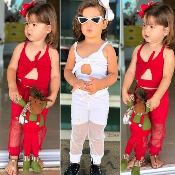 2019 Fashion Toddler Kid Baby Girl Clothes Vest Top Long Pants 2PCS Outfit Set Summer Baby Clothes