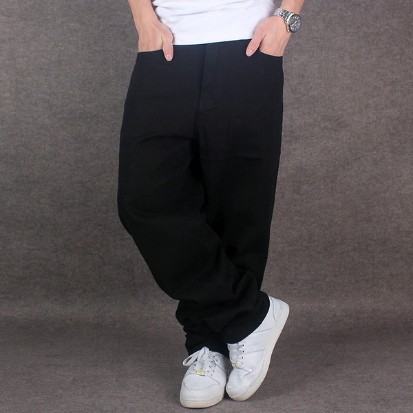 High-End Hip-Hop Men Denim Jeans Skateboard Tide Brand Loose Men Trousers Big Size 30-46 Fashion Baggy Long jeans