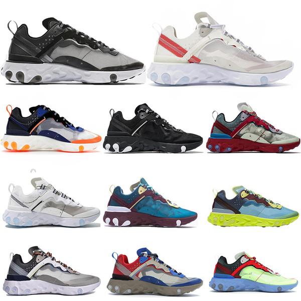 Высокое качество 2019 Nike Air Max 87 новых мужчин и женщин высокого качества дизайн одежды белый черный синий желтый повседневная обувь 36-45 бесплатная доставка