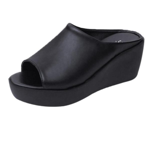 2019 Summer Women's Slipper Fashion Leisure Fish Mouth Sandals Thick Bottom Mujer Slippers Female Shoes New Hot Sale