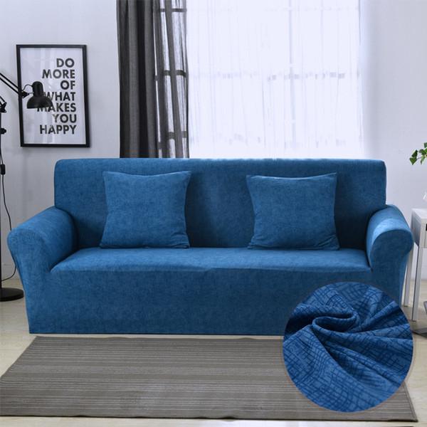 Großhandel Volltonfarbe Stretch Sofa Cover Hussen Elastische All Inclusive  Couch Case Für Verschiedene Form Sofa Loveseat Stuhl Fall Von Tinaya, ...