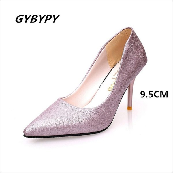 Shoes Ladies High Heels 2019 Fall Selling New Suede Tip Toe Fashion Joker High Heels Elegant Sexy Banquet