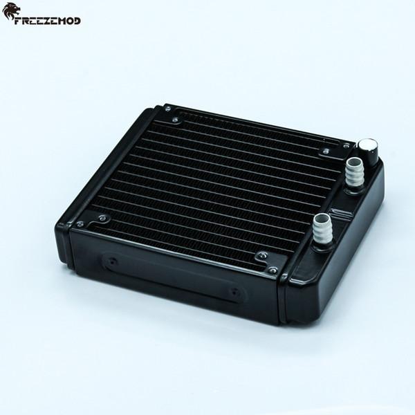 FREEZEMOD 140mm fin aluminium computer water discharge liquid heat exchanger radiator for 12cm/14cm fan. SR-L140F10