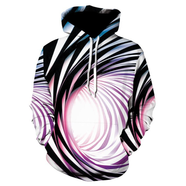 Newest Hot Fashion Psychedelic Swirls Hoodies Women/Men Unisex Funny Long Sleeve 3D Printed Pullover Unisex Hipster Sportwear Tops H636