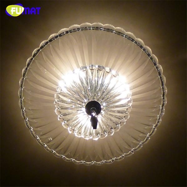 FUMAT Runde Moderne Klarglas Kristall Kronleuchter Decke Künstlerische Lichter Für Wohnzimmer Kurze Mode LED Glas Kronleuchter
