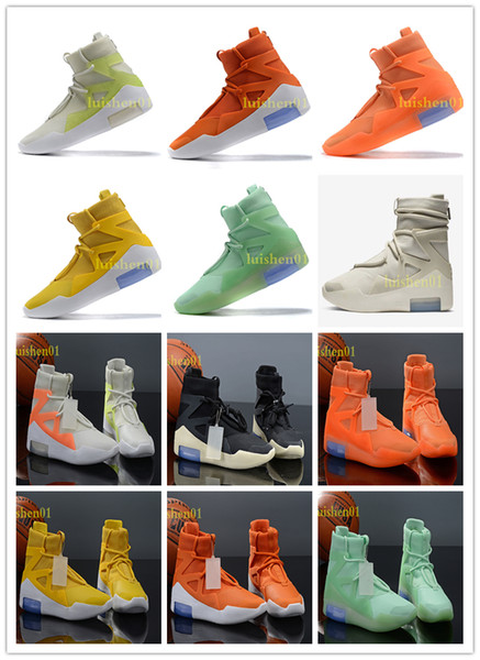 air fear of god 1 boots fashion designer shoes fog outdoor boots orange green black grey white zoom sneakers size 7-12 ment c07