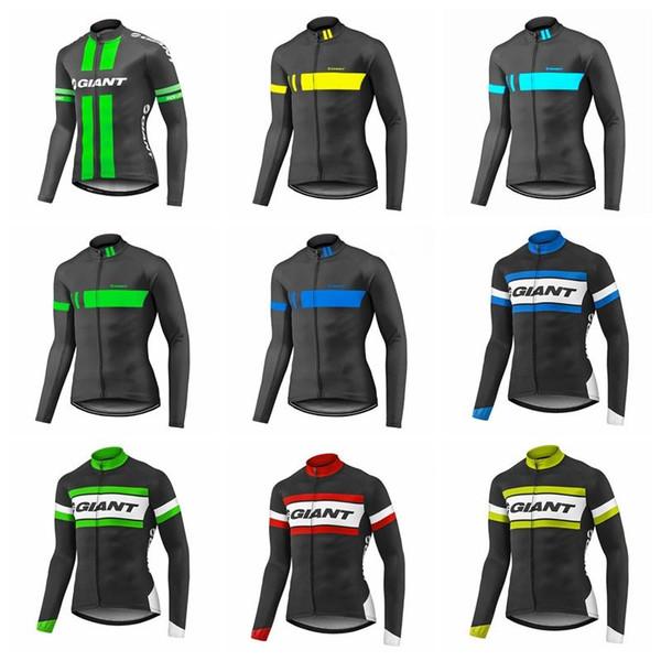 2019 GIGANTE equipe Dos Homens de Ciclismo mangas compridas jersey Pro Equipe Bicicleta Roupas de Desgaste Respirável Sportswear mtb Roupas K010429