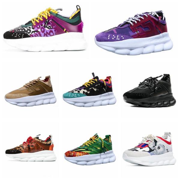 Nuevo 2019 Reacción en cadena Diseñador de moda casual de lujo Zapatos casuales Zapato ligero Moda de lujo para hombre para mujer diseñador sandalias zapatos
