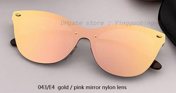 043/E4 gold/pink mirror lens