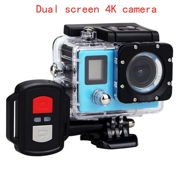 best selling 2020-Hot Sale Add 2.4G Remote H22R 4K Wifi Action Camera 2 Inch 170D Lens Dual Screen 30M Waterproof Extreme Sports Camera HD DVR Camera