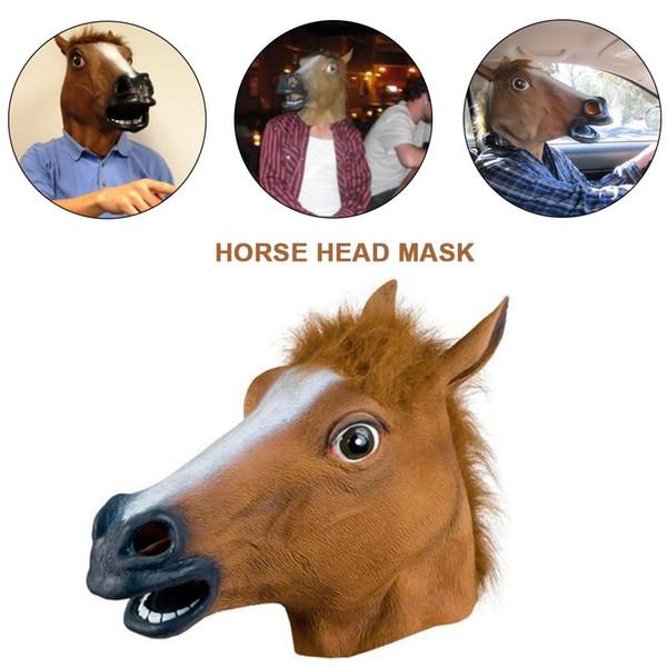 2019 New Horse Head Mask Maschera in lattice Maschera per animali Cosplay Puntelli per Festa in maschera Halloween Pasqua Giocattoli Festa Halloween