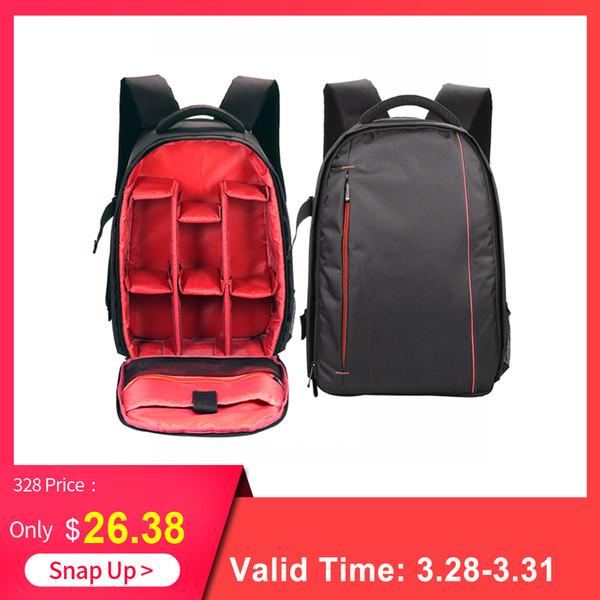 Andoer DSLR Kameratasche Outdoor Verschleißfester Videorucksack Wasserabweisende multifunktionale Fototaschen mit Stativ