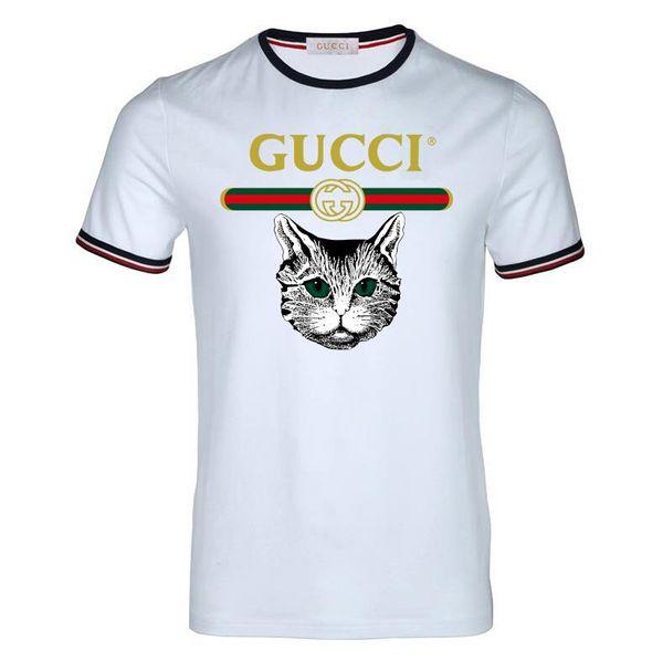 Nuevo 2019 de alta calidad para hombre de moda casual de negocios de manga corta diseñador de moda superior impreso camiseta de algodón cómodo verano It camisa