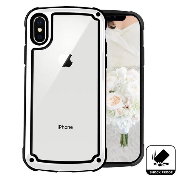 Estuche resistente de acrílico transparente transparente claro de jalea Aribag para iPhone XR XS MAX X 8 7 6 Samsung S8 S9 S10 5G Plus S10E Nota 9 M10 M20