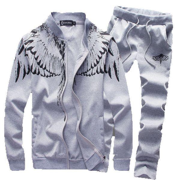 Mens Tracksuit Set Sportsuit Men 2pcs Casual Sportswear Brand Sweatshirt Survetement Jogger Homme Marque Hoodies 4xl 5xl