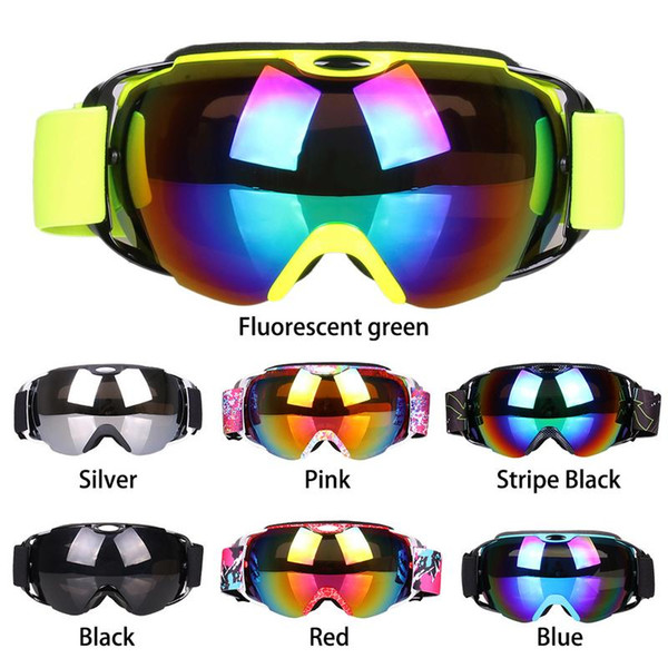 Gogles Ski Spherical Dual-layer Anti-fog Skiing Goggles Mask Anti-UV Snow-proof Wind-proof Climbing Goggles Mask For Woman Men