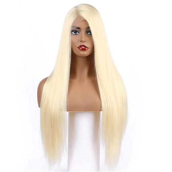 150% Density Honey Blonde Virgin Human Hair Lace Front Wigs 613-Color Straight Thick Full Lace Wigs With Baby Hair