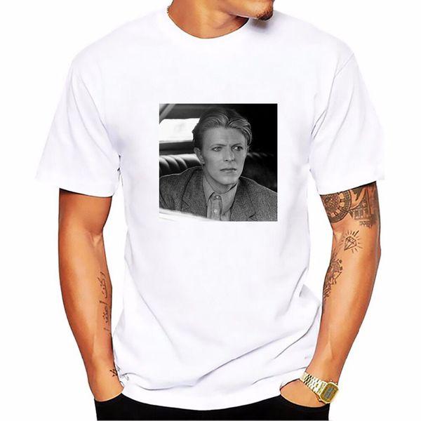 Impreso nueva manera de la llegada del rock David Bowie camiseta de los hombres de color blanco camisetas unisex del verano Tops Streetwear Hip Hop camiseta