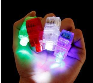 Edison2011 Cheapest Laser Finger Light LED Light Laser Finger Lamp Beams Ring Torch For Party 4XColors