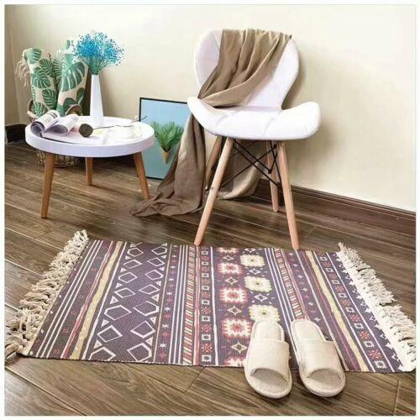 Creat Woven Indian Cotton Printing Tribal Area Rug Floor Mat Boho