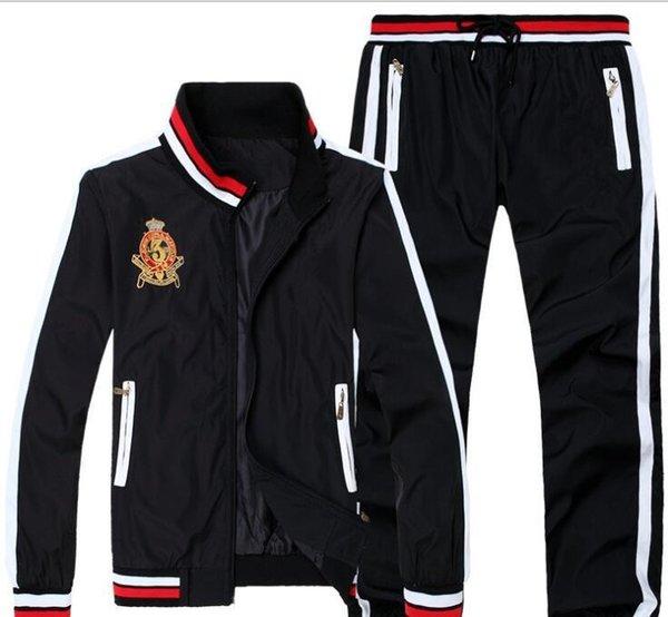 2018 sıcak satmak Men039; Suit Koşu ler Kapüşonlular ve Tişörtü Spor Man Polo Ceket pantolon Suits Men039 Sweat; ın Tracksuits06